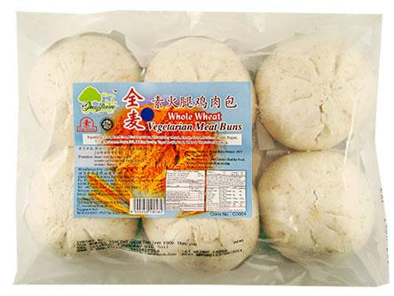 Vg Whole Wheat  Meat Bun 素全麥火腿雞肉包 TS1 BUN MB1 (6pcs/480gX24)