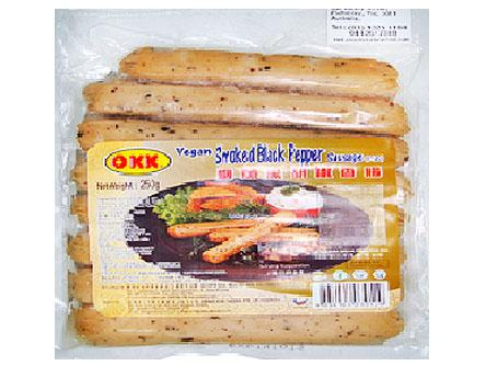 Vg Smoked Black Pepper Sausage(VEGAN) 素煙薰黑胡椒香腸 G1 SAU SBPS (250gX80)