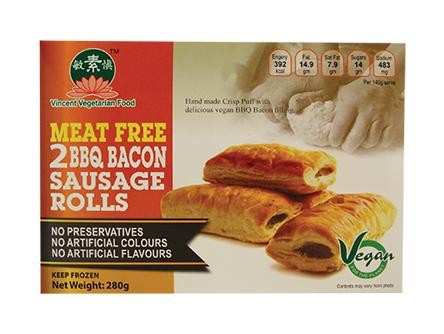 Vegan BBQ Bacon Sausage Roll (2PCS/BOX) OR1 SNA VBBS (280GX95)